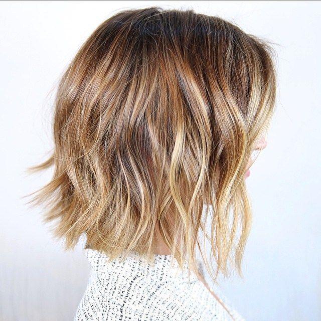 short messy bob haircut for thick hair                                                                                                                                                     More