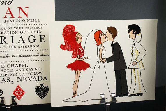 Wedding invitation las vegas and elvis style wedding as for Las vegas elvis wedding invitations