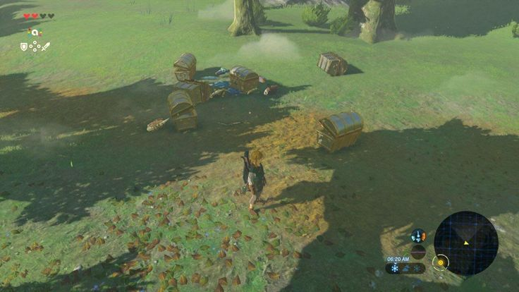 The trash dump of 20 Zelda-themed Amiibo spoils. Oh and the original Link Amiibo made Epona fall from the sky in an eerie and surreal moment. CLEAN UP YOUR CHESTS YOU LITTERING PIG