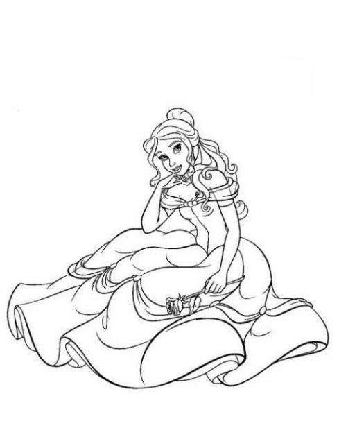 Tolle Disney Prinzessinnen Malvorlagen Belle Zeitgenössisch ...