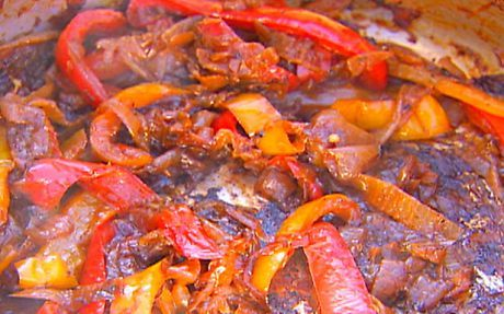 Sauteed onions and peppers Recipe by Ina Garten : Food Network UK