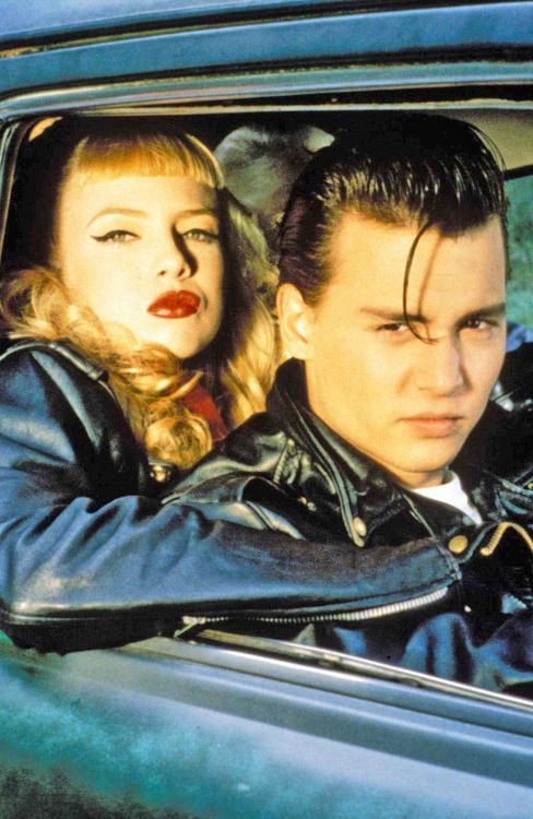 Traci Lords and Johnny Depp