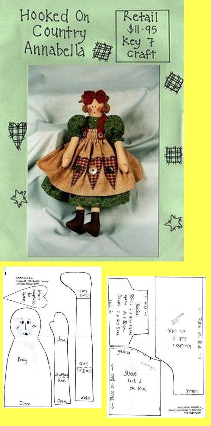 Base pattern idea for small good and evil Kronks (Small Doll - Hooked on Country)