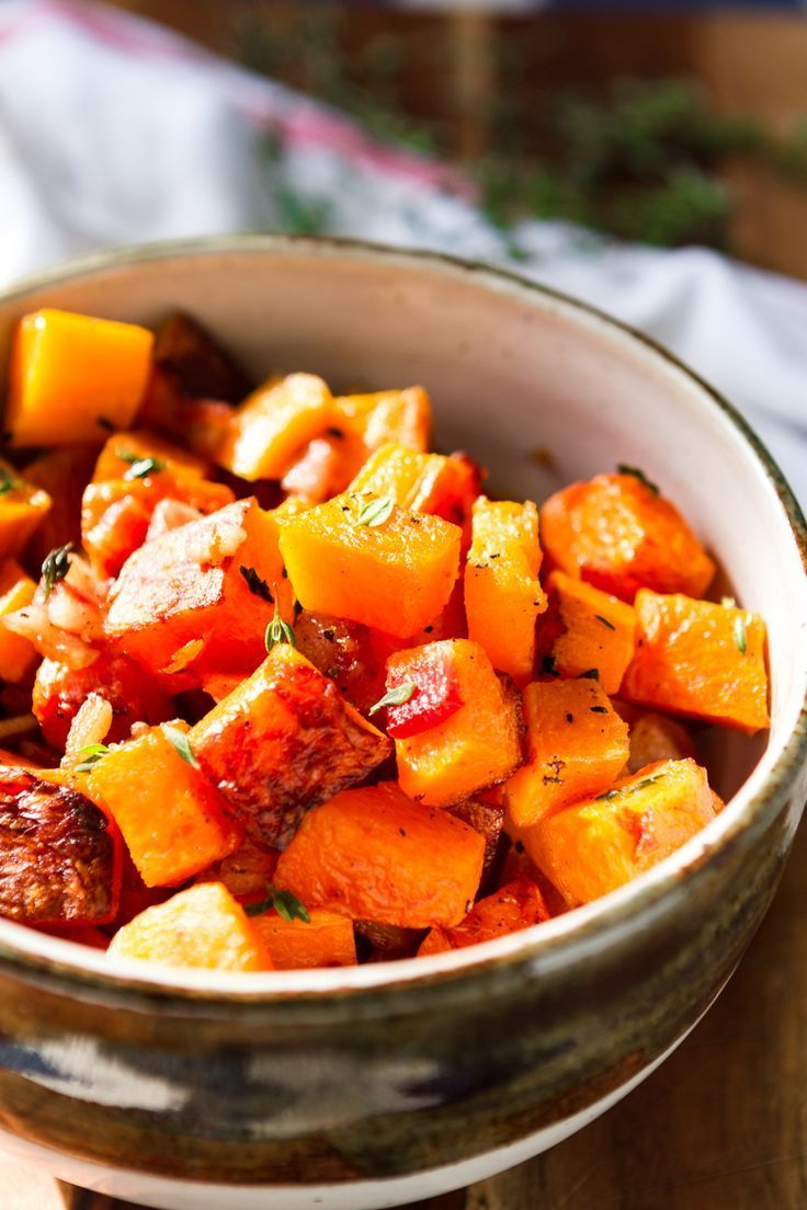 Oven Roasted Butternut Squash With Bacon This Roasted Butternut