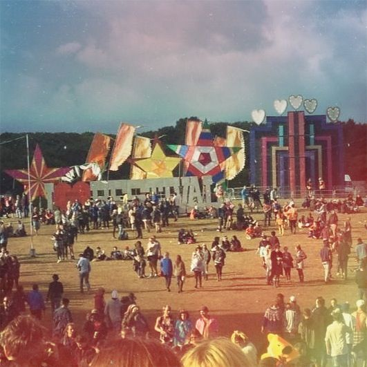 Bestival, on the isle of wight. 3 day fancy dress music festival. one of the few awesome festivals i've yet to visit