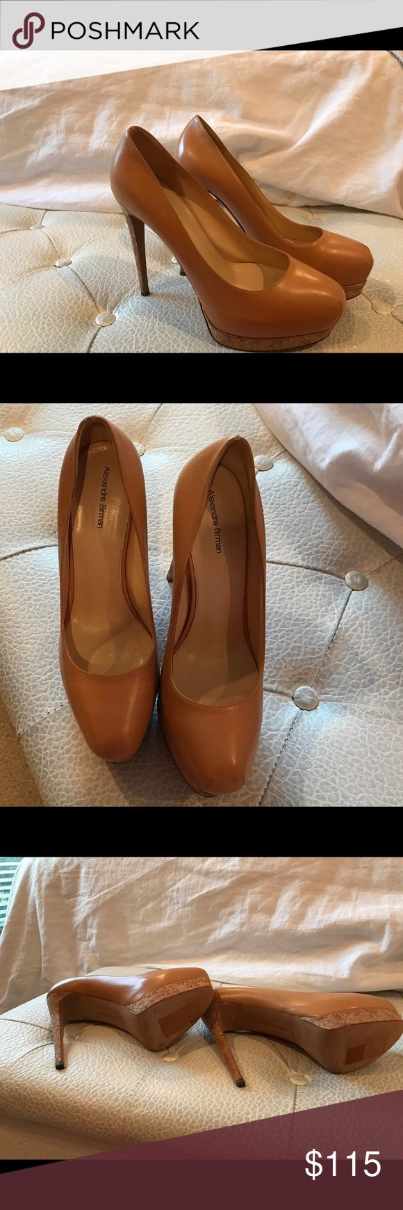 New nude Alexandre Birman cork platform pumps These are beautiful, perfect caramel colored cork pumps. They are perfect neutral for spring! Alexandre Birman Shoes Platforms