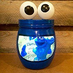 Cookie Monster night light. Sesame Street night light. Personalized Cookie Monster LED night light
