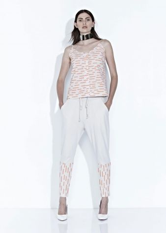 TADAO PANT - Coral/Bone - $195.00 : Green Horse, Lifestyle with a conscience