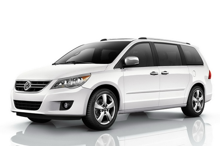 2011 VW Routan..Never thought I'd own a minivan...EVER, but now that I do, I'm never going back.  What fun for the kids because they can get themselves in/out, the DVDs keep mommy/daddy sane on long trips, and the leather makes for easy peasy clean up (even though I hate sitting on it in the summer)!