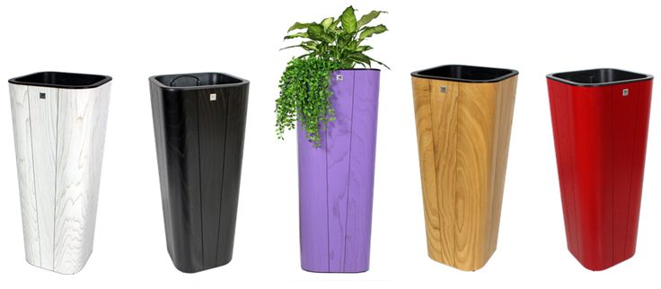 gamme de grands pots de fleurs en bois de ch taignier. Black Bedroom Furniture Sets. Home Design Ideas
