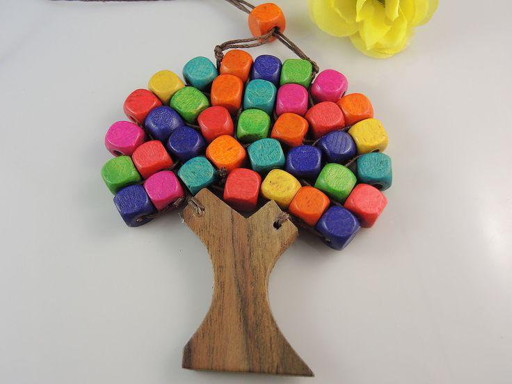 Tree of life - Wood Multi Coloured $7.50