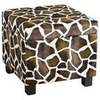 Southern Enterprises Giraffe Faux Leather Storage Ottoman - transitional - ottomans and cubes - by Cymax