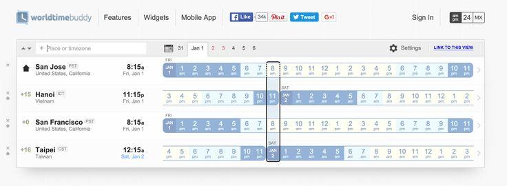 I love worldtimebuddy for #scheduling across a several time zones   http://www.worldtimebuddy.com/  #Travel #DigitalNomad