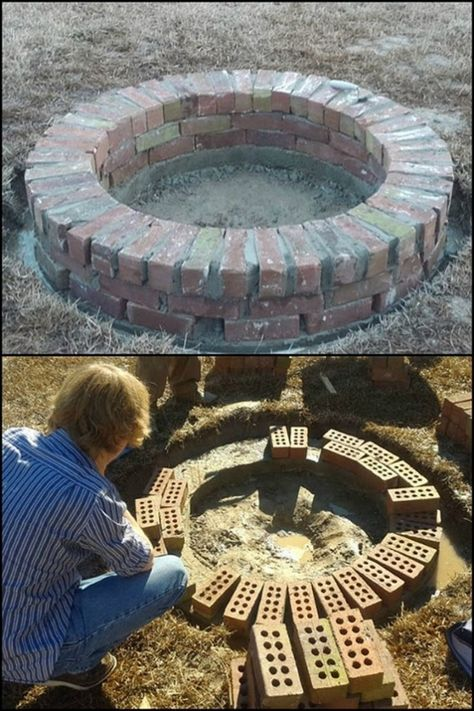 Build A Brick Fire Pit For Your Backyard In 2019 Fire