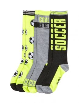 3 Pack Soccer Knee High Socks