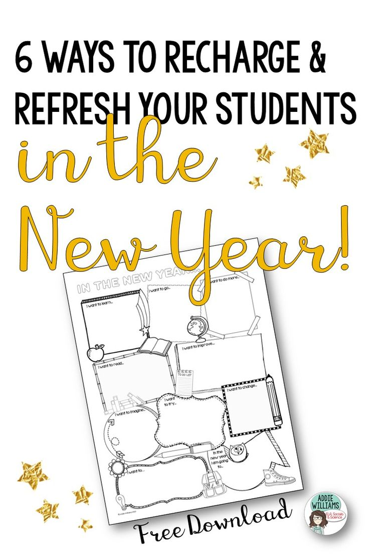 Refresh and recharge your students in the New Year! Grab a