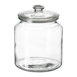 IKEA - VARDAGEN, Jar with lid, The transparent jar makes it easy to find what you are looking for, regardless of where it is placed.You can reduce your food waste by storing your dry foods in a jar with a tight-fitting lid, because it keeps the food fresh longer.