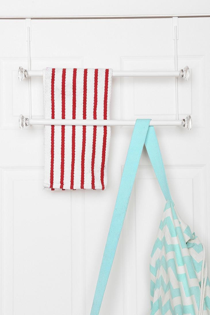 Faceted Over The Door Towel Rack #urbanoutfitters