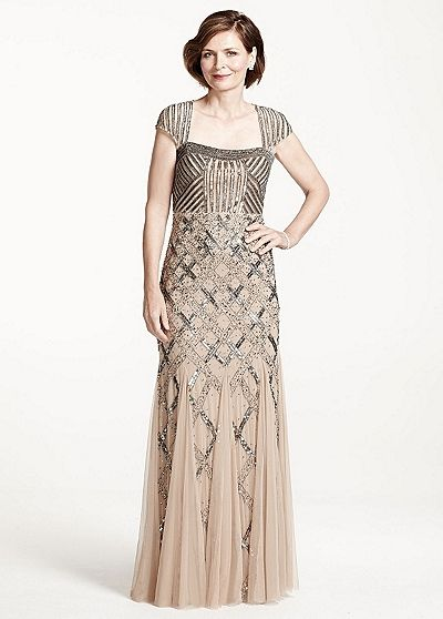 Mother of the bride dress by david 39 s bridal winter for Dresses for mother of the bride winter wedding