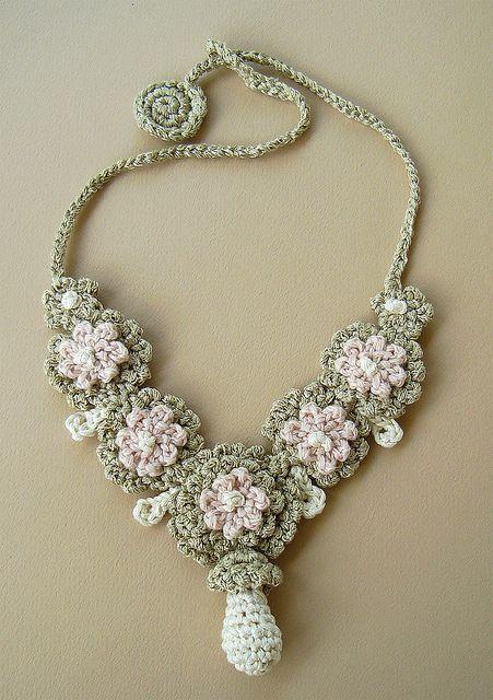 Crochet Silk Wedding Necklace