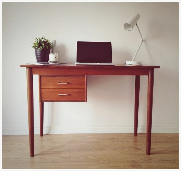 Look what I found! Danish Mid Century Modern Teak Desk/Table By Vi-Ma Møbler - Vintage/Retro 60's