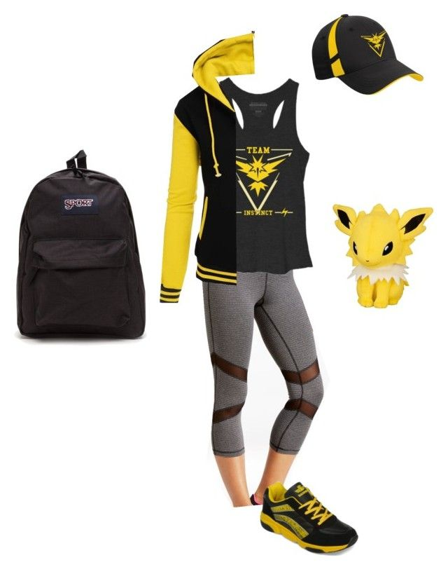 """Team Instinct Gym Leader"" by christina-balog ❤ liked on Polyvore featuring Ideology, yeswalker, Pokemon, TeamYellow and PokemonGO"