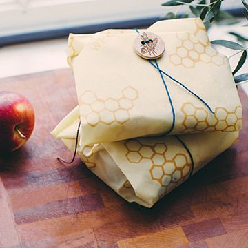 Beeswax Reusable Sandwich Wrap | Never run out of sandwich bags while packing school lunches again—opt for this reusable wrap instead. Made from beeswax, jojoba oil, and tree resin-infused cotton, this wrap is moisture-resistant and naturally antibacterial (as well as environmentally friendly). Its design means crumbs won't get stuck in the seams like other cloth or plastic pouches. Just wash in your sink with cool water and dish soap and leave to air dry. It couldn't bee easier!