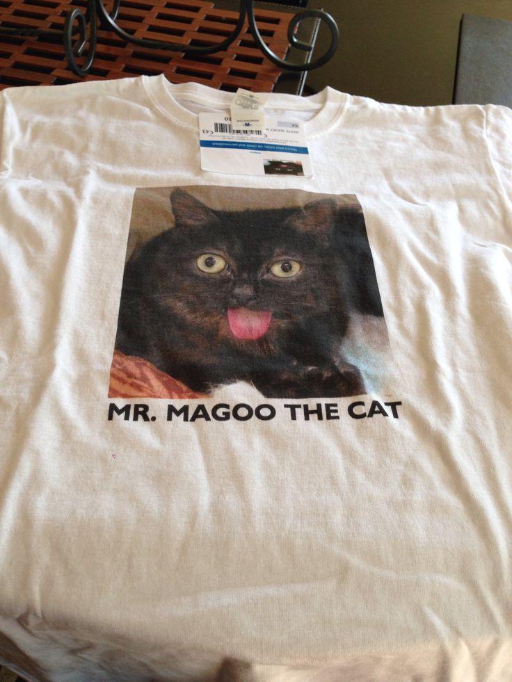 Mr. Magoo the cat t-shirt! $20