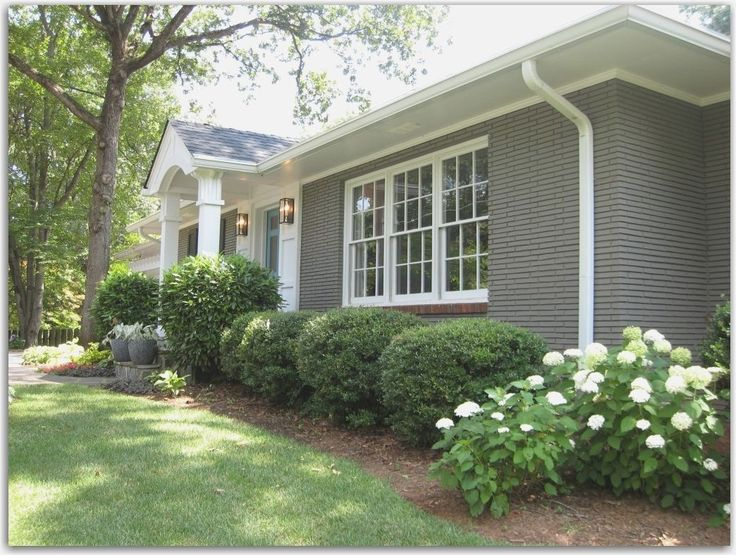 Grey Painted Brick Ranch Style Google Search Home Exterior