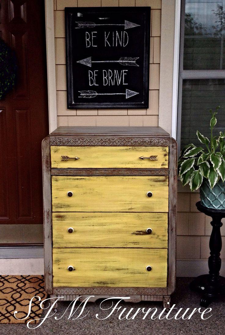 Best 25 Yellow Distressed Furniture Ideas On Pinterest