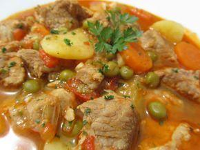 Estofado de cerdo con verduras. Blog con recetas sencillas, rápidas y económicas de Thermomix realizadas por Ana Sevilla