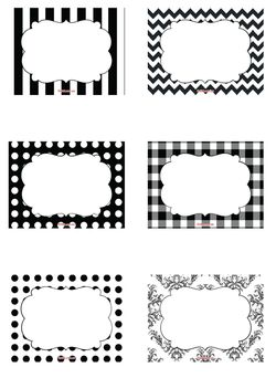 Free Black & White free printable candy buffet labels to add to your candy jars.