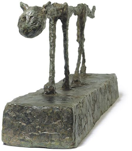 """Alberto Giacometti (Swiss, 1901-1966) - """"Le chat"""" (The Cat) - Bronze sculpture conceived in 1951 and cast in 1955"""
