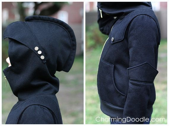 Knight Hoodie PDF Sewing Pattern in sizes 2T to by CharmingDoodle
