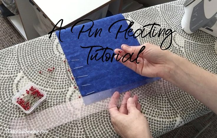 A Pin Pleating Tutorial | HistoricalSewing.com