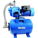 Bur-Cam 13 GPM 1/2 HP Cast Iron Shallow Well Jet Pump w/ 6.6 Gal. Tank. Bur-Cam has been making pumps for over 30 years. They have quickly become a desirable brand for us since we added them mid-2011.     One of the nice things about this jet pump is that it comes with a tank. This means there is no water to tank contact reducing the risk for seeping.     There is also no water to air contact eliminating rust. Without waterlogging this pump also eliminates the need for air volume controls.