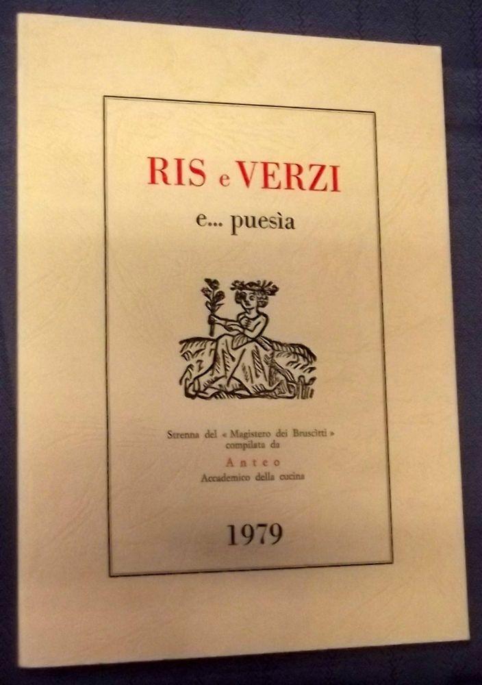Anteo Magistero dei Bruscitti - RIS e VERZI e puesia - Strenna 1979