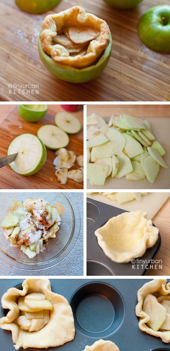 Inside out apple pie