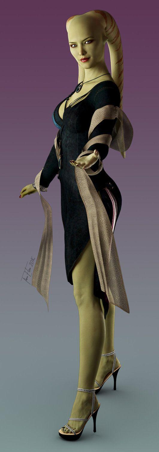 Twi'lek Lady by ThreeElves
