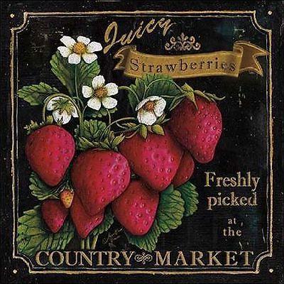 Marie-Elaine Cusson: Country Market I Keilrahmen-Bild Leinwand Obst Küche Deko