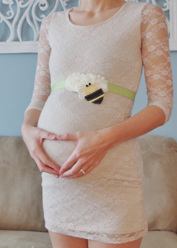 Mommy to Bee Maternity Sash for Gender by FeltFromTheHeartXXOO