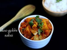 aloo gobi recipe | quick easy aloo gobi curry recipe | potato - cauliflower curry | potato - cauliflower gravy with step by step photo and video recipe.