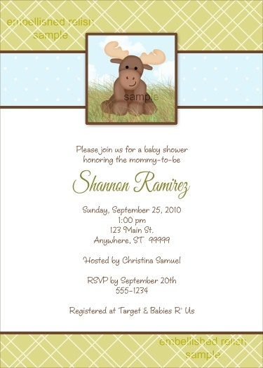 Baby Moose Baby Shower Invitation by Kimbellished