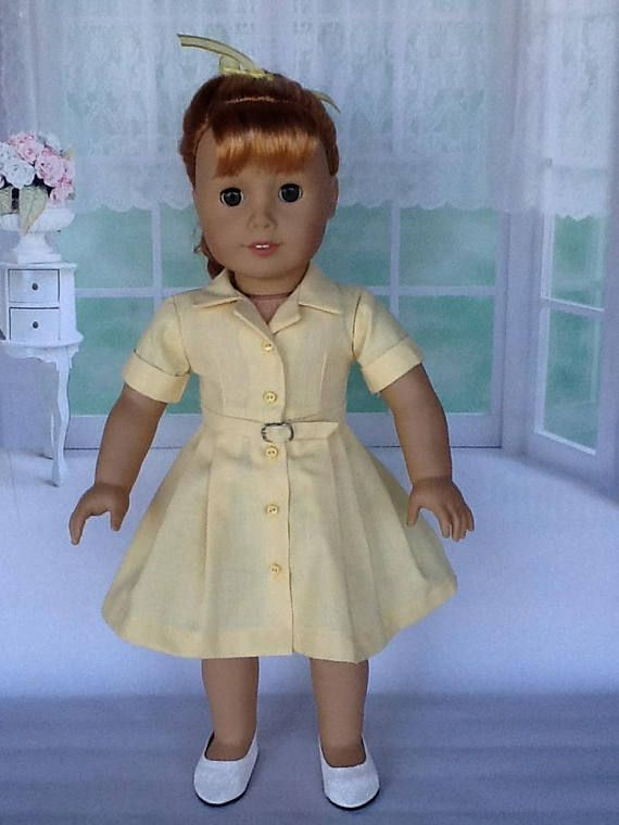 Fifties Shirtwaist dress for American Girl Dolls and other 18