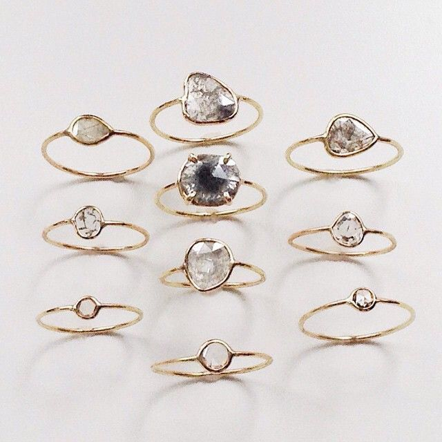 dainty rings #jennifermeyer