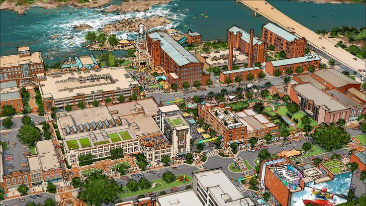 Downtown CSU campus/Woodruff Park aerial view. (apartments