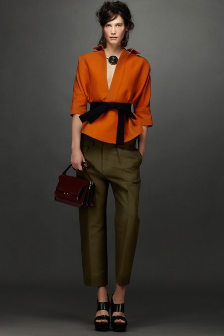 RESORT 2014 Marni perhaps a better fitting pair of pants, overall the colour scheme is wonderful