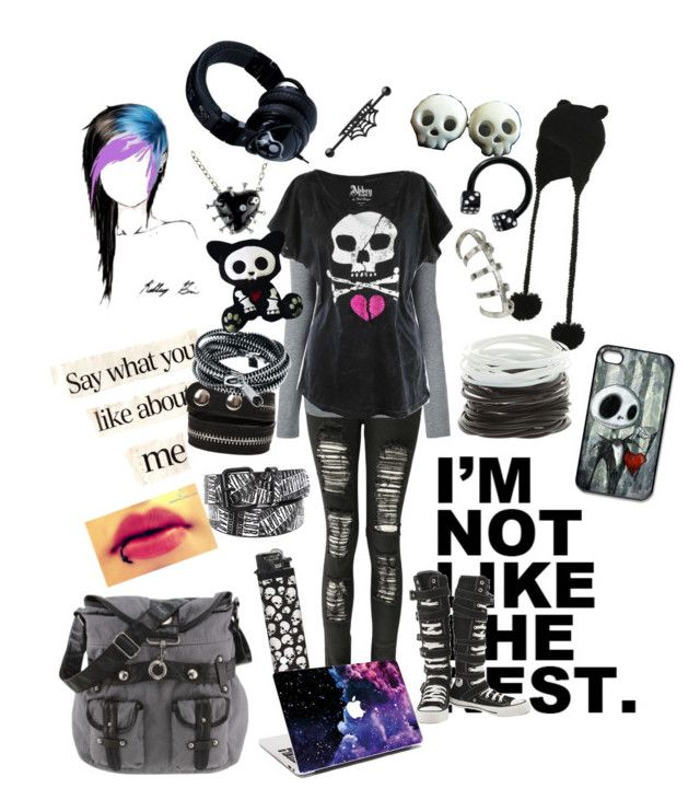 """Untitled #17"" by littleloneyperson ❤ liked on Polyvore featuring Wet Seal, Boohoo, T By Alexander Wang, Abbey Dawn, Converse, INDIE HAIR, Pieces, Black Dice, Skullcandy and Disney"