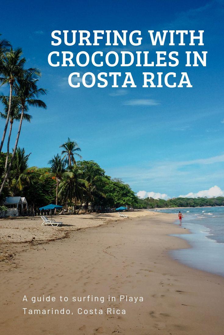 Surfing With Crocodiles In Playa Tamarindo Costa Rica Best