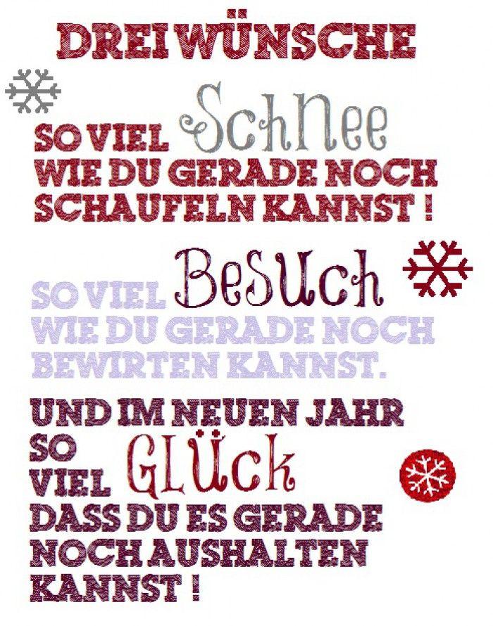 Den Spruch merke ich mir für die Weihnachtskarten dieses Jahr!